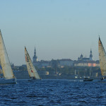 Panoramic view of Tallinn's Old Town from the sea