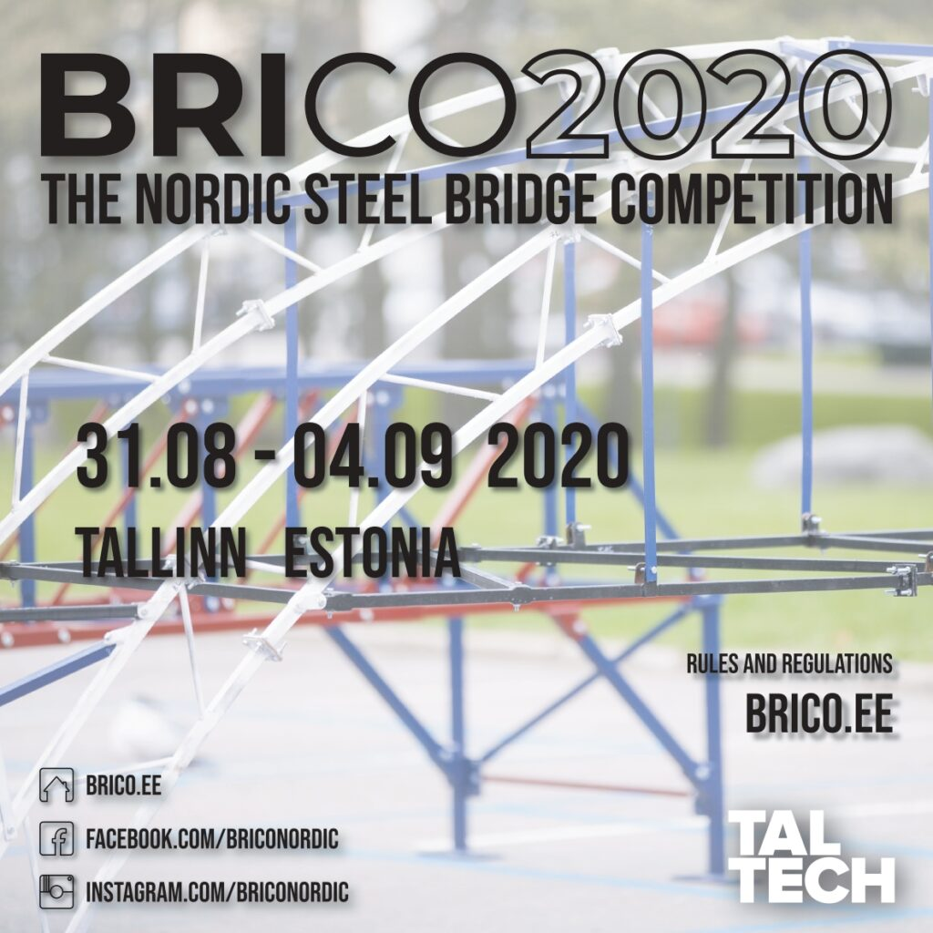 Poster containing BRICO date for autumn 2020.