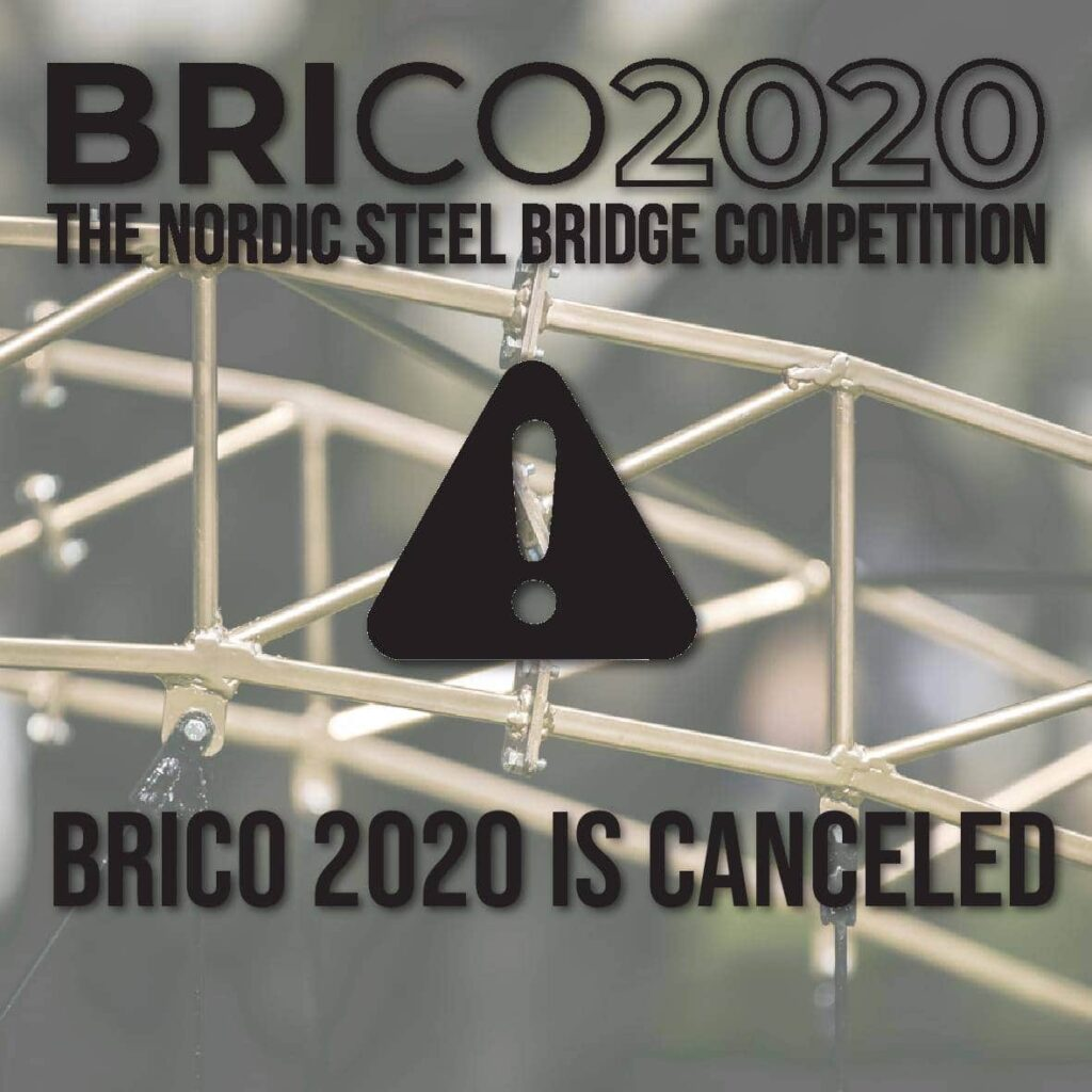 "Poster where there is written ""BRICO 2020 is canceled"""